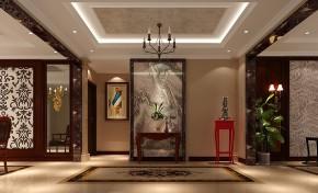 中式 高度国际 平层 别墅 80后 白富美 高富帅 奢华 时尚 玄关图片来自北京高度国际装饰设计在西山壹号院180平中国风的分享
