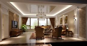 高度国际 美式 别墅 白领 简约 80后 白富美 高富帅 时尚 客厅图片来自北京高度国际装饰设计在西山壹号院美式平层幸福之家的分享