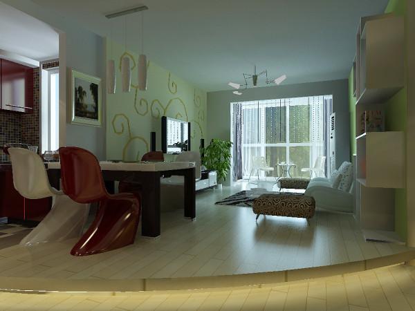 房子是旧房改造,主要在结构上做了一些调整,把厨房的墙打开后做敞开厨房,可以阔大空间。客厅地面做了地台突显主人个性,阳台用了柜桑拿板吊顶,等等,处处都体显着主人对生活时尚的要求。
