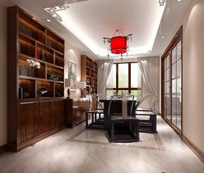 简约 中式 高度国际 三居 别墅 白领 80后 时尚 白富美 书房图片来自北京高度国际装饰设计在西山壹号院中式典范的分享