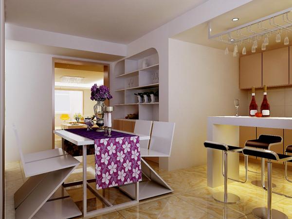 天通东苑小区复式结构170平米现代简约风格老房重装设计案例——餐厅