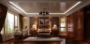 高度国际 美式 别墅 白领 简约 80后 白富美 高富帅 时尚 卧室图片来自北京高度国际装饰设计在西山壹号院美式平层幸福之家的分享