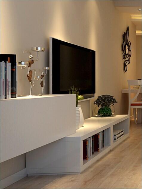 路径世界城A户型--客厅电视背景墙效果图