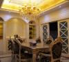 名雕丹迪别墅设计万科棠樾豪宅欧式餐厅