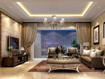 学清苑125平经典欧式三室两厅