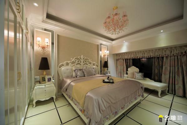 名雕装饰设计凯茵新城天誉168平时尚典雅空间后现代卧室