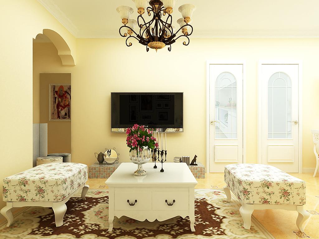 客厅图片来自用户2652703143在升龙又一城50平一居雅致田园设计的分享