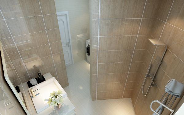 【成都实创装饰】110平米 新中式风格 三居 装修参考—整体家装—卫生间装修效果图