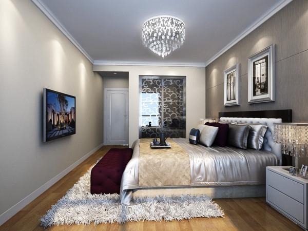华地公馆-114平米-简约风格-卧室装修效果图