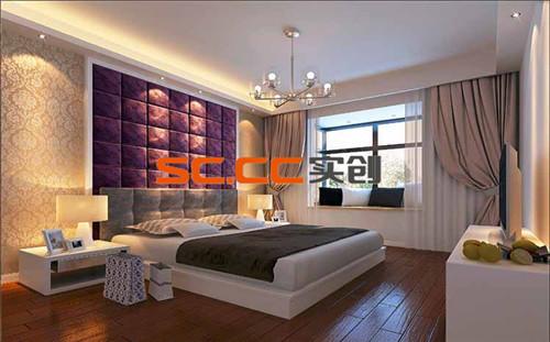 卧室墙面软包设计,是的原本强硬的墙面有了柔软的感觉,更加的温馨舒适