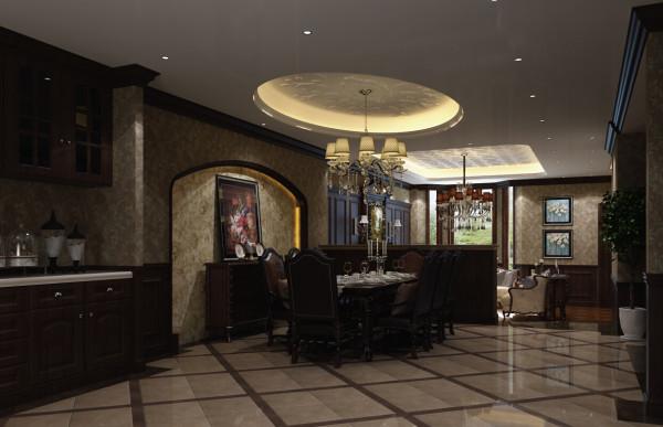这张是餐厅的设计效果图给人的感觉大气,并没有传统英式的古板