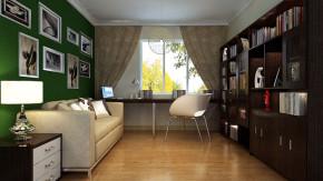 二居 现代 简约 舒适 温馨 书房图片来自高度国际装饰韩冰在东方世纪园100㎡现代简约效果的分享