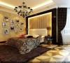 卧室床头背景墙和整个空间结合,是整个房间最有特色的地方。浅黄色的壁纸再配以高贵典雅的水晶吊灯,将整个房间的贵族气质显现得淋漓尽至。