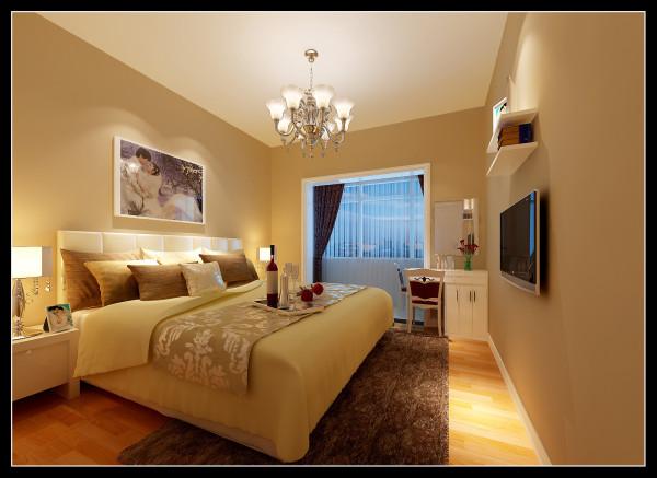 【成都实创装饰】110平米 现代简约 婚房 装修参考—整体家装—卧室装修效果图