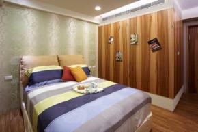 简约 现代 时尚 高度国际 三居 白领 80后 白富美 高富帅 卧室图片来自北京高度国际装饰设计在132平原木色系三居室的分享