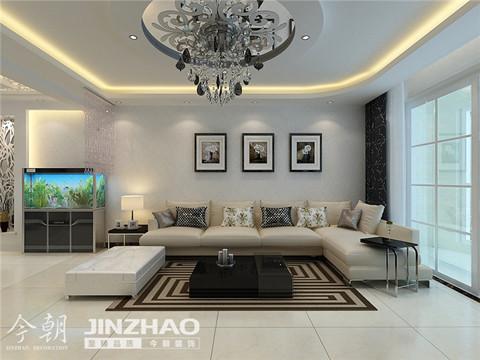 沙发背景墙:简约的沙发背景墙的设计,整洁而舒服,让干净舒爽的气息充满整个客厅。