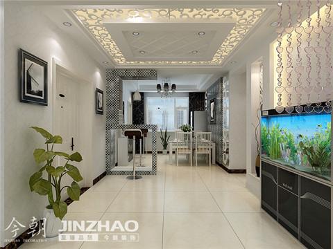 餐厅:高雅的阿拉伯数字六的桌形玄关设计,时尚而新潮。
