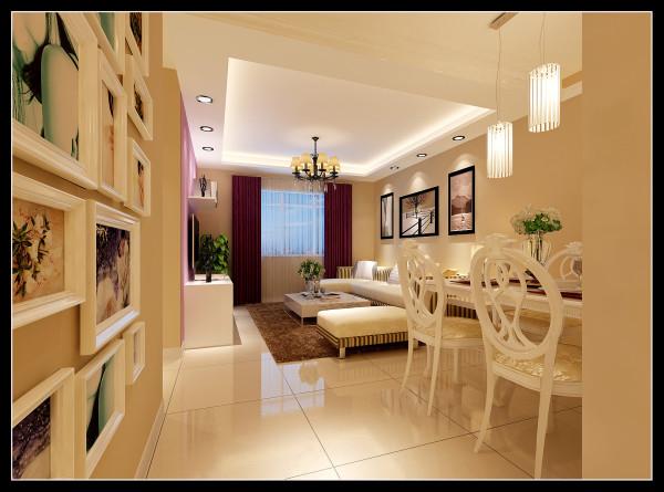 【成都实创装饰】110平米 现代简约 婚房 装修参考—整体家装—客厅装修效果图&餐厅装修效果图