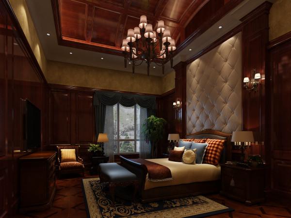 龙湖好望山 573平米 美式风格 尚层装饰 卧室装修效果图