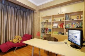 现代 三居 温馨 小清新 装修设计 书房图片来自香港古兰装饰-成都在暖色调清心时尚温馨小窝的分享