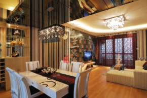 现代 三居 温馨 小清新 装修设计 餐厅图片来自香港古兰装饰-成都在暖色调清心时尚温馨小窝的分享