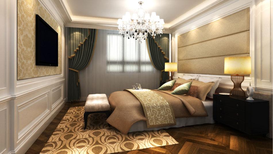 四居 新古典 传统 低调奢华 舒适 北京设计 北京装修 卧室图片来自高度国际装饰韩冰在北辰上院140㎡新古典效果的分享