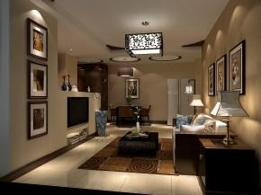 中式 高度国际 二居 白领 80后 时尚 白富美 小清新 高富帅 客厅图片来自北京高度国际装饰设计在八家佳苑93平新中式经典两居的分享