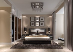 高度国际 装饰设计 现代 三居 白领 80后 白富美 时尚 小清新 卧室图片来自北京高度国际装饰设计在润泽公馆时尚现代三居的分享