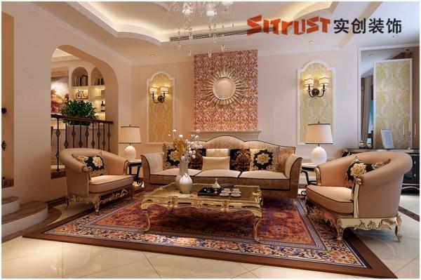客厅1:时尚简欧客厅 简洁时尚的整体搭配外加硬装上的欧式元素点缀,在不失欧式风格的基础上营造出简洁、实用、大气的客厅空间、