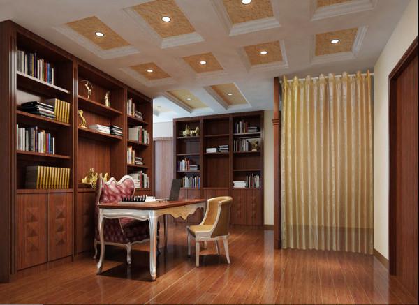 与硬装修上的欧式细节应该是相称的,应选择深色、带有西方复古图案以及非常西化的造型家具,与大的氛围和基调相和谐。
