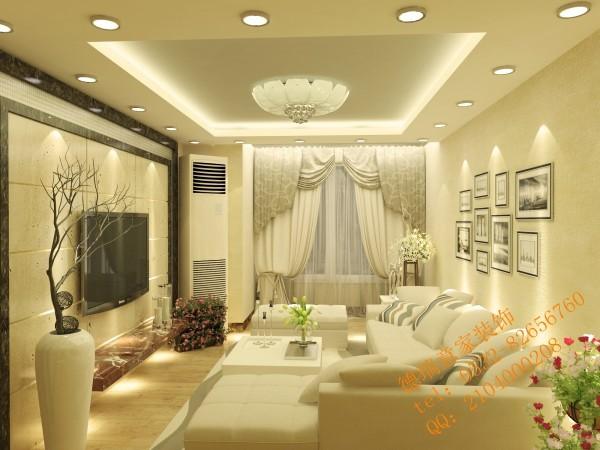客厅整体以白色调为主,整体色调、线条柔美雅致,而富于节奏感,整个立体形式与沙发家具都有条不紊的融为一体。