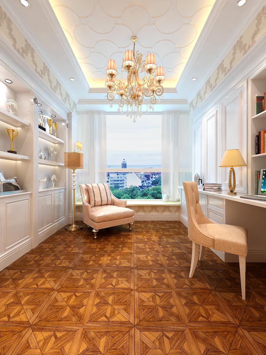 别墅设计 太原楼盘 太原别墅 半山 欧式 书房图片来自王含亦在半山国际的分享