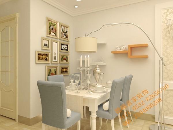 设计师在注重时尚设计的同时更加注重业主的放置空间,在餐厅墙面上设计师巧妙的增加了三个格子储物空间。整个餐厅时尚而又实用。