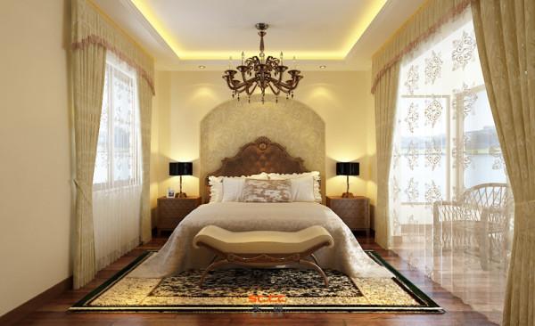 设计理念:主卧室的设计一简单、干净、舒适为基调,反映出优雅的生活与品味。 亮点:利用阳台的空间,展开视觉空间的延伸和开阔性,同时营造空间的层次变化。