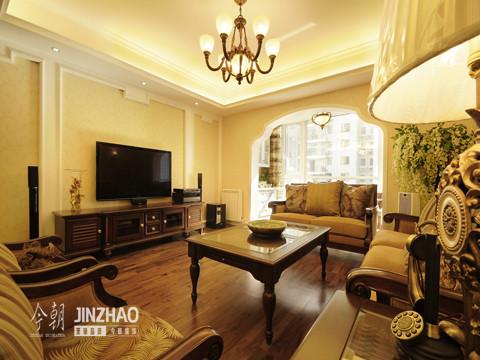 客厅:简约而不简单的欧式风格。
