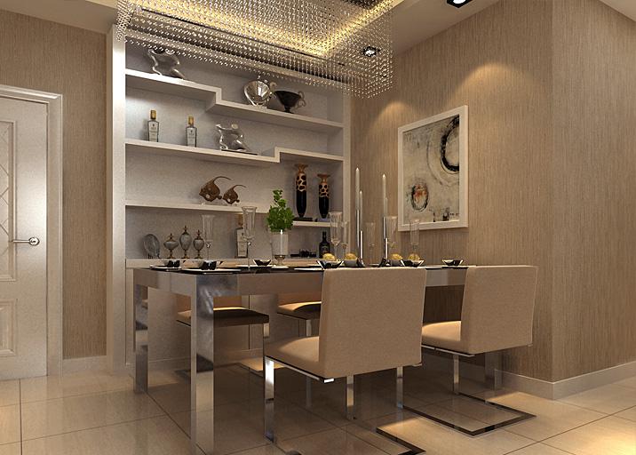 简约 现代 暖色调 二居 白领 小资 餐厅图片来自北京实创装饰集团在一家三口的简约温馨89平两居的分享