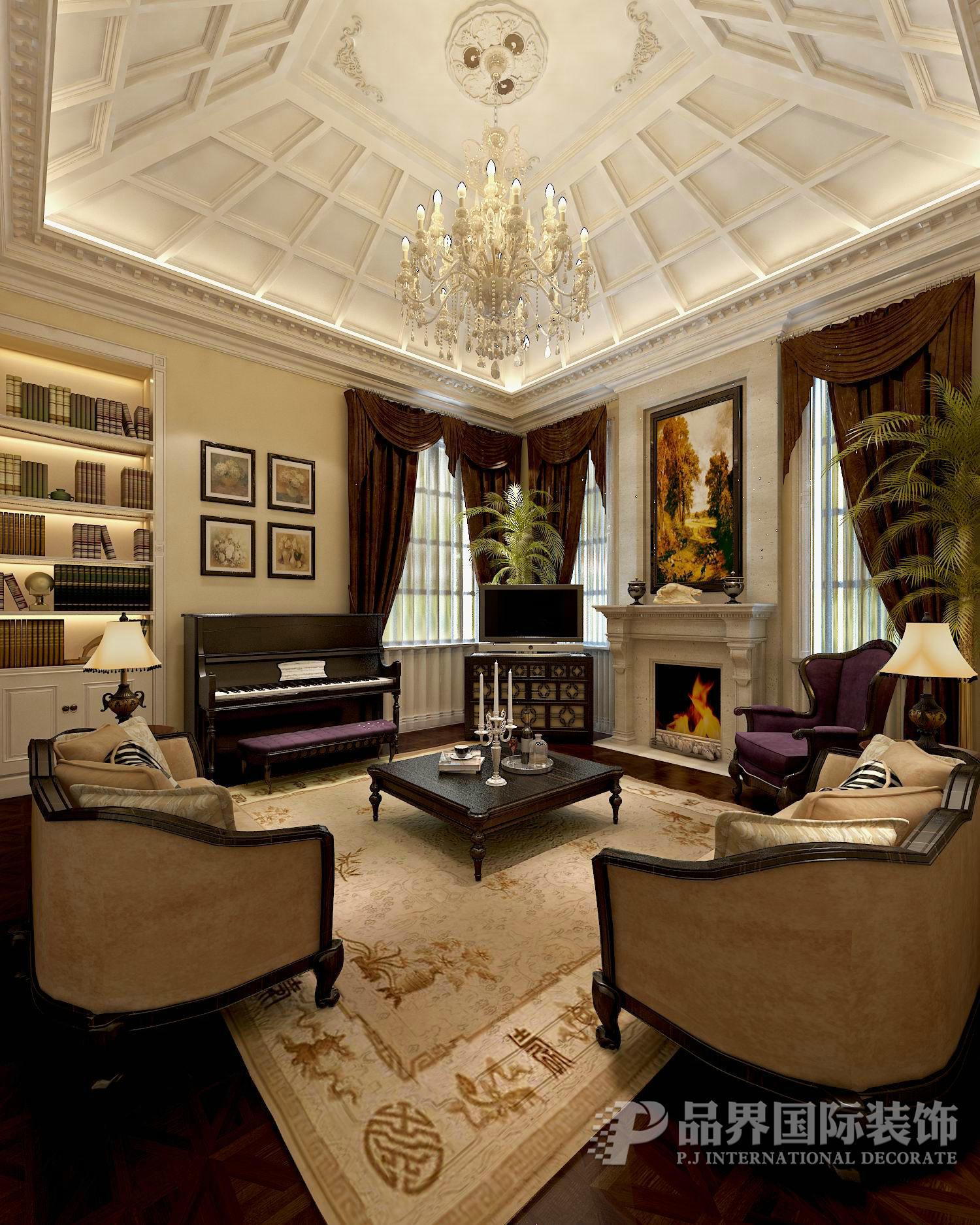 美式 新古典 别墅 石家庄 客厅图片来自石家庄亿佰居装饰在麦卡伦别墅480平美式新古典风格的分享