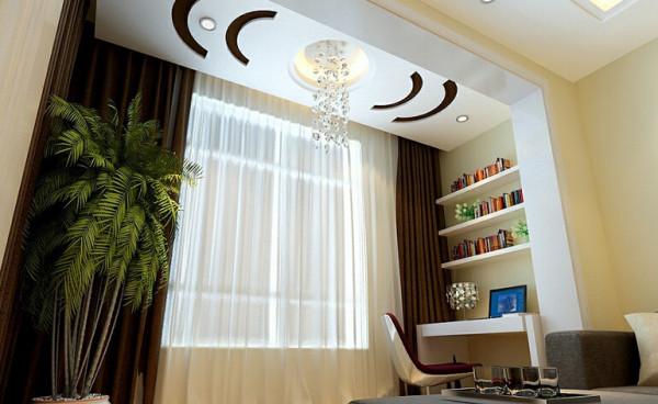广视花园148平米简约装修设计,休闲区。