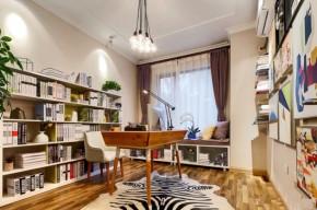 高度国际 三居 白领 80后 白富美 高富帅 时尚 小清新 简约 书房图片来自北京高度国际装饰设计在青春期的花样年华的分享