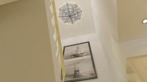 别墅 美式 舒适 温馨 别墅装修 别墅设计 楼梯图片来自高度国际装饰韩冰在大宁山庄260㎡美式风格效果的分享