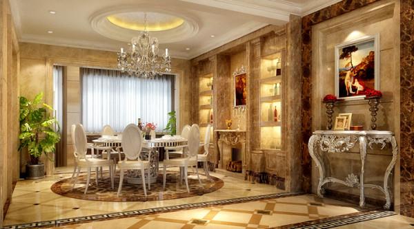 置地广场-124平米-简欧风格-餐厅装修效果图