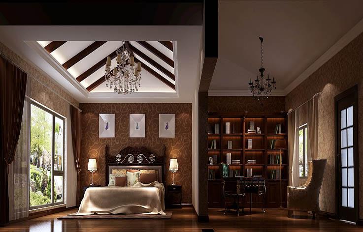 简约 四居 别墅 卧室图片来自高度国际装饰舒博在孔雀城260㎡现代简约效果的分享