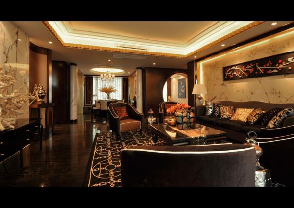 中式奢华装修风格-客厅