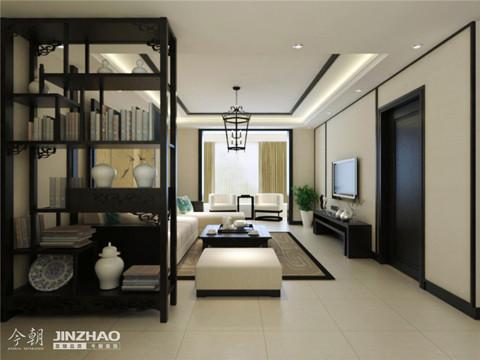 客厅:黑白格调的家具和客厅装修风格,使得客厅简单大气又不失档次。再有现代时尚的配饰映衬着客厅,简单而又有层次感,黑白两色凸显品位。