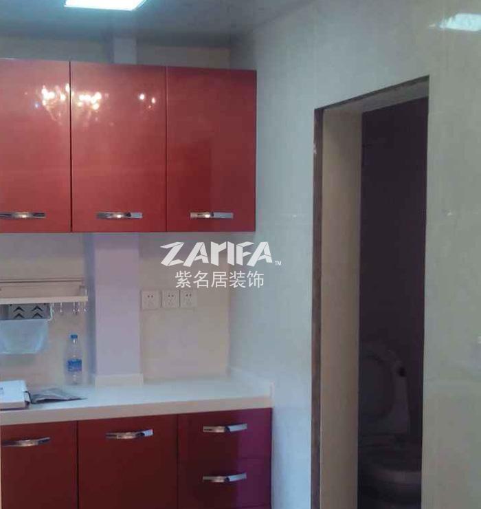 现代 简约 二居 白领 收纳 旧房改造 新房装修 80后 小资 厨房图片来自紫名居装饰在绿苑10号楼的分享