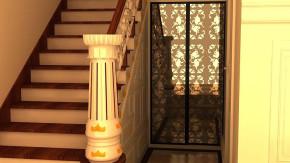 古典 欧式 舒适 沉重 怀旧 别墅装修 别墅设计 楼梯图片来自高度国际装饰韩冰在鸿运花园330㎡古典欧式效果的分享