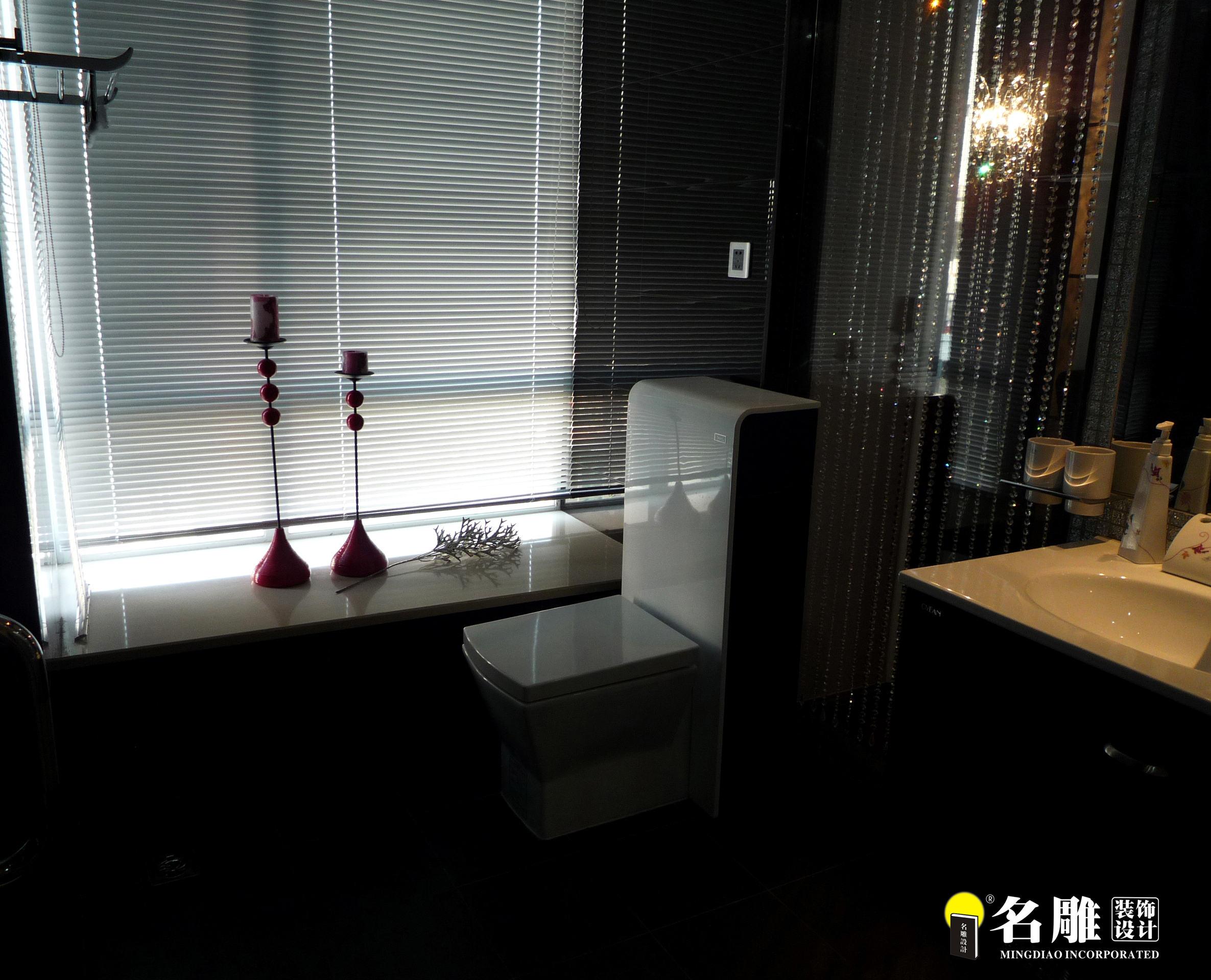 现代 三居 白领 四口之家 时尚个性 名雕装饰 卫生间图片来自名雕装饰设计在枫丹白露现代时尚三居室装修设计的分享