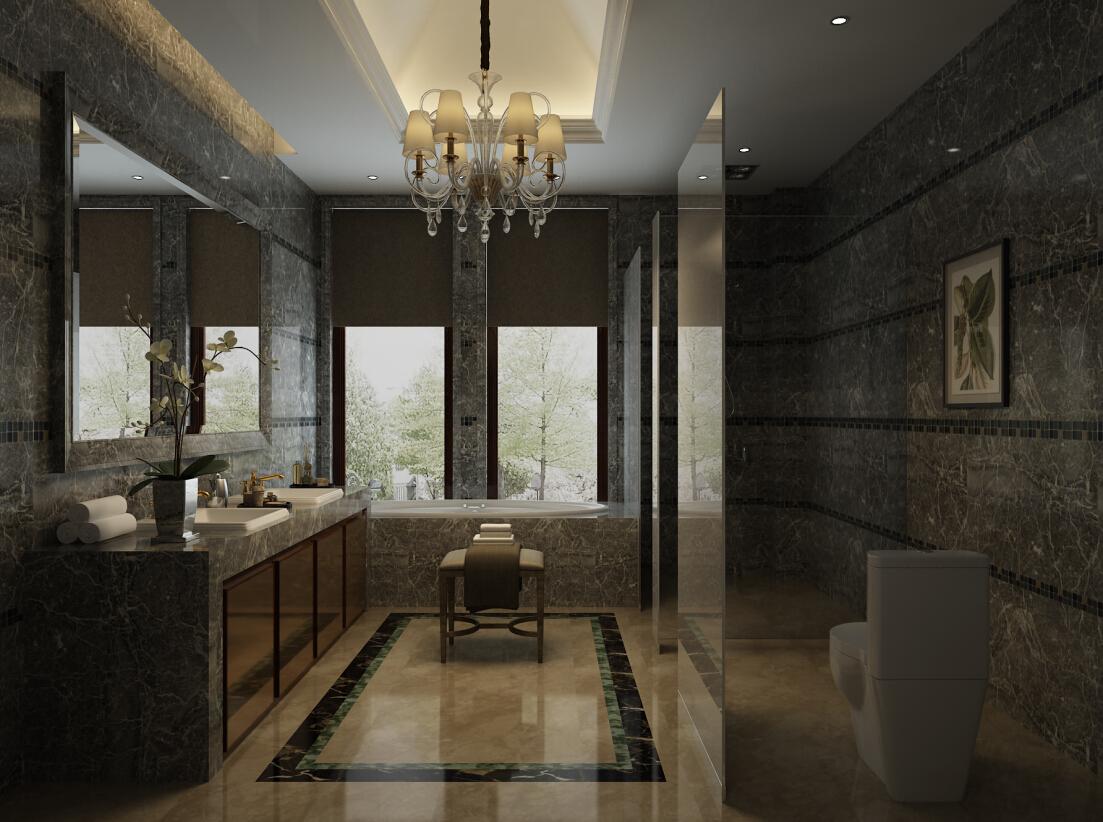 混搭 现代 新规现代 别墅 卫生间 卫生间图片来自尚层别墅设计在京基鹭府别墅装修不一样的现代风的分享