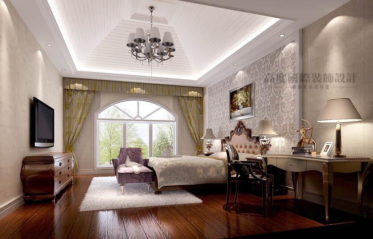欧式 三居 卧室图片来自高度国际设计装饰在鲁能7号院186㎡花园洋房欧式的分享