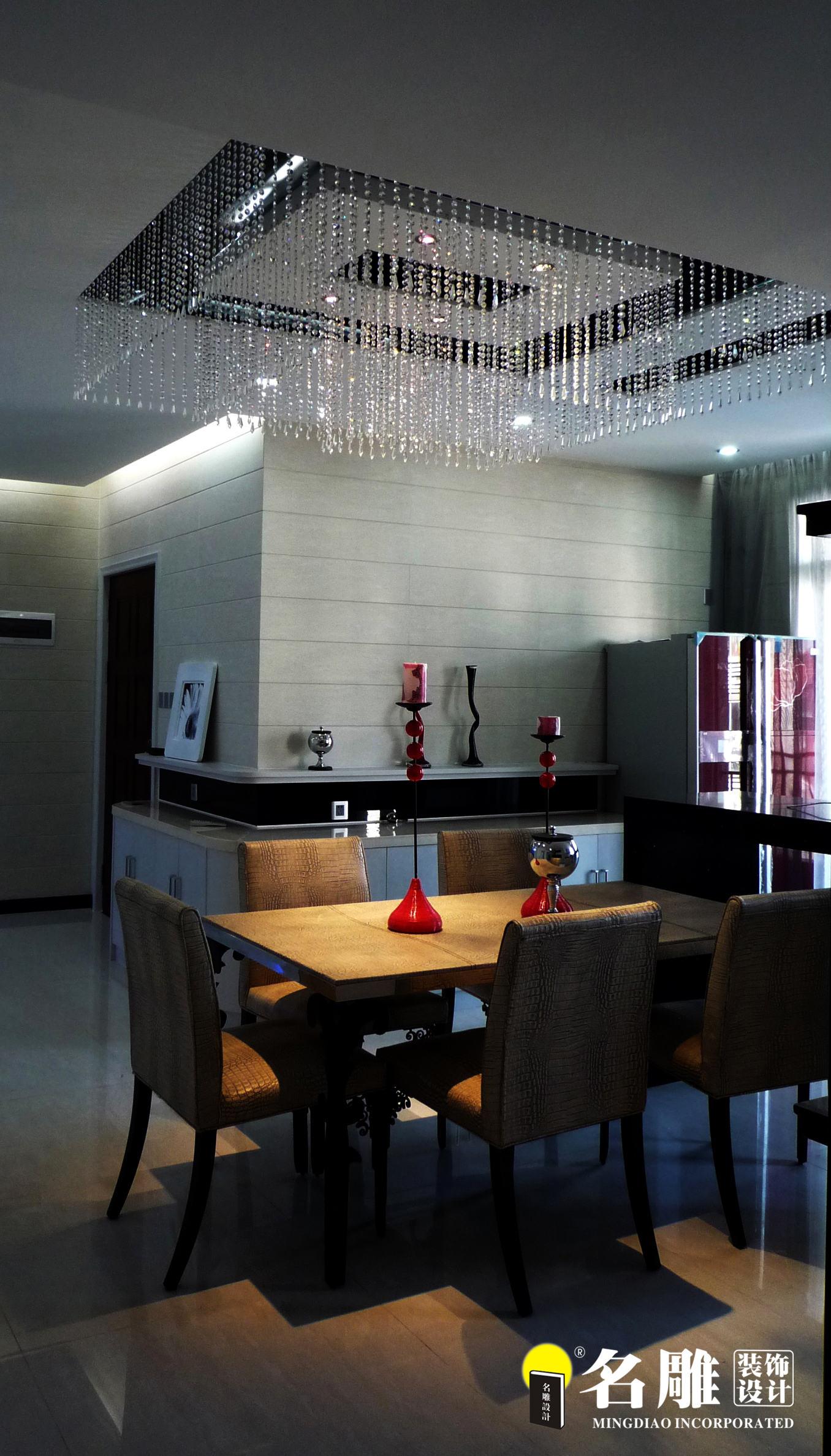 现代 三居 白领 四口之家 时尚个性 名雕装饰 餐厅图片来自名雕装饰设计在枫丹白露现代时尚三居室装修设计的分享